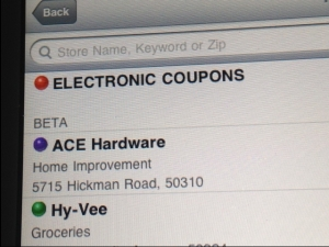 electronic coupons