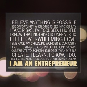 I am an entreprenuer