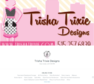 Square Trixie Shop Logo Info
