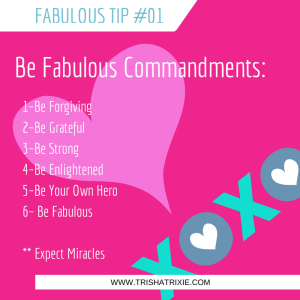 Be Fabulous Commandments